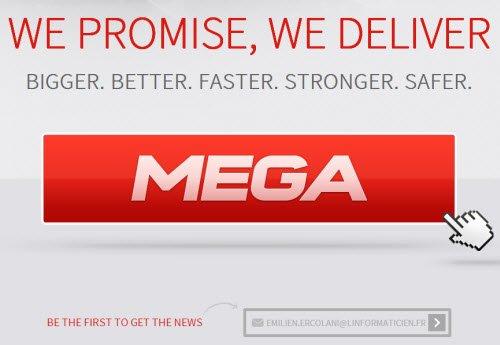 Le nouveau Mega est partiellement en ligne