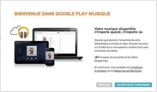 Google Play Musique désormais disponible