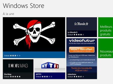 Le Windows Store de Microsoft est déjà piraté