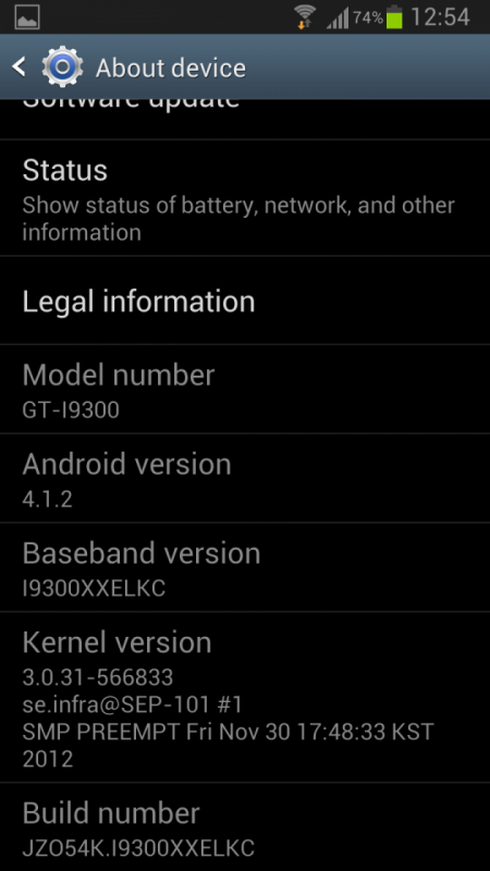 Galaxy S III: Android 4.1.2 commence à arriver