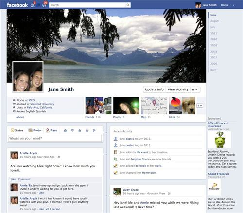 Un lifting pour la Timeline de Facebook