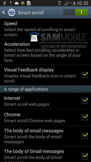 Samsung Galaxy S4 : le smart scroll presque confirmé ?