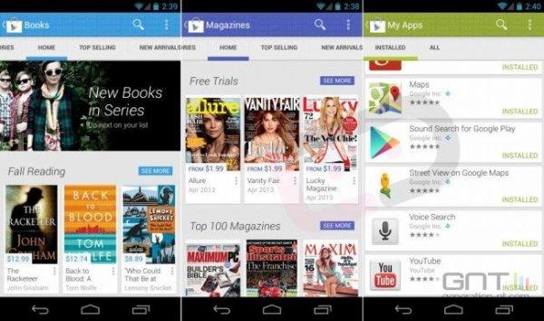 Google Play va faire peau neuve