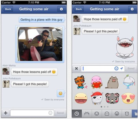 Facebook colle des stickers, tacle Path et brise le c½ur de Twitter