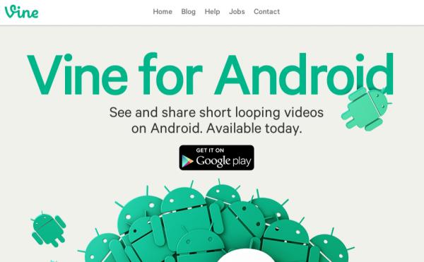 Vine sur Android : c'est officiel