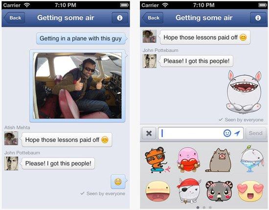 Facebook Messenger permet d'envoyer des photos prises avec Instagram