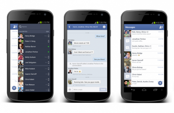 Facebook affiche le type de connexion de vos amis sur Messenger