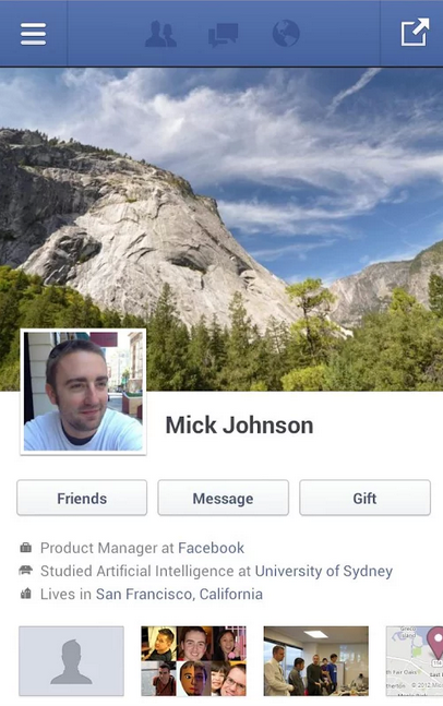 FACEBOOK : Un nouveau Design pour son application Mobile en test?