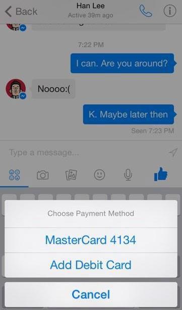 Facebook Messenger pourrait permettre le transfert d'argent