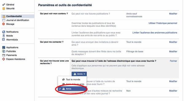 Vie privée sur Facebook : comment être invisible en 15 étapes