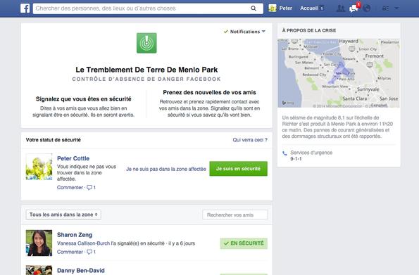 """Un bouton """"Je suis en sécurité"""" arrive sur Facebook"""