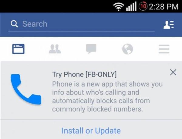 Facebook : une application de téléphonie en développement fuite sur la toile