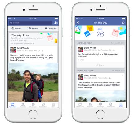 """Facebook joue la carte nostalgique avec la fonction """"ce jour-là"""""""