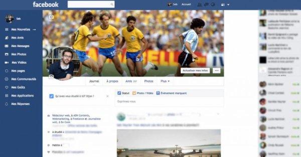 Facebook : changez le design du site avec Facebook Flat