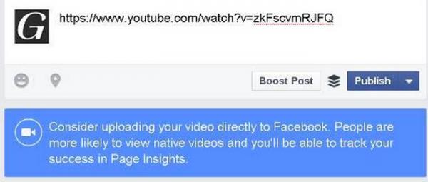 Facebook : Le nouveau message pour faire encore plus d'ombre à YouTube