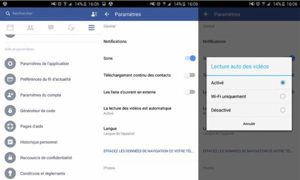 Facebook : Comment désactiver la lecture automatique des vidéos