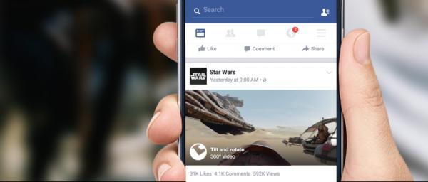 Facebook : des vidéos à 360 degrés dans le journal