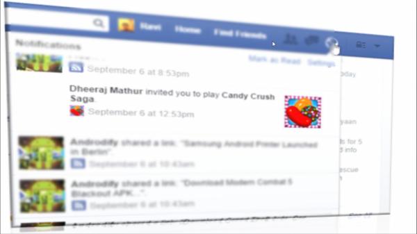 Facebook ne vous embêtera plus avec des invitations pour jouer à Candy Crush