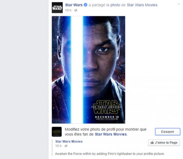 Envie d'ajouter un sabre-laser à votre photo de profil Facebook ?