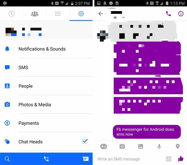 Facebook Messenger pourrait intégrer les SMS et le multi-compte comme Hangouts