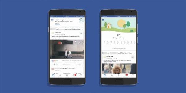 Facebook intègre les prévisions météorologiques à votre flux d'actualités