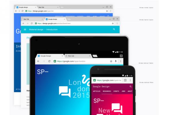 Google Chrome change de look avec Material Design : activez-le en avant-première