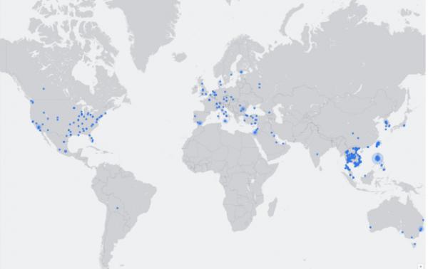"""Les """"Facebook live"""" du monde entier sont désormais accessibles sur une carte interactive"""