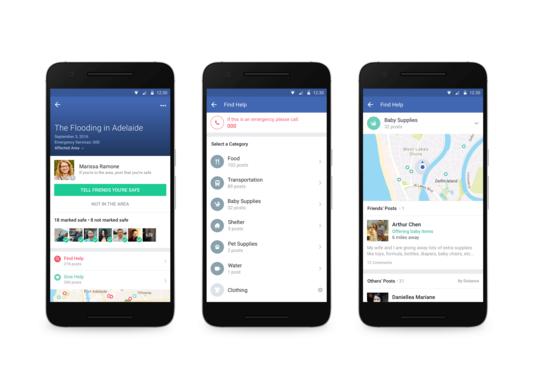 Facebook lance un outil permettant de proposer de l'aide en cas de crise