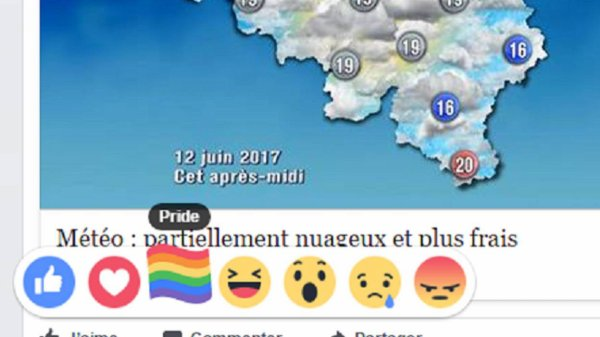 Facebook: Un drapeau arc-en-ciel pour commenter les publications