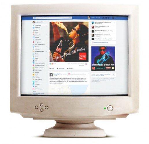 Facebook:   Donner un côté retro à son fil d'actualité