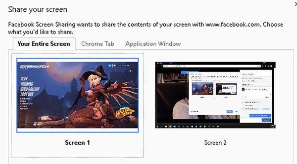Facebook Live intègre désormais le partage d'écran