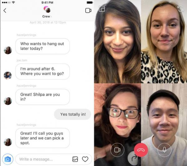 Instagram se lance dans les appels vidéo et les filtres en réalité augmentée