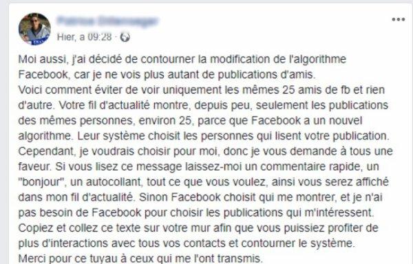 Non, votre fil d'actualité Facebook ne se limite pas aux posts de 25 amis