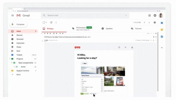 Gmail : les emails dynamiques dès le 2 juillet