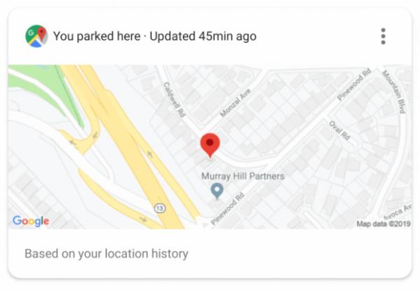 Le Google Assistant vous rappellera où vous êtes garé