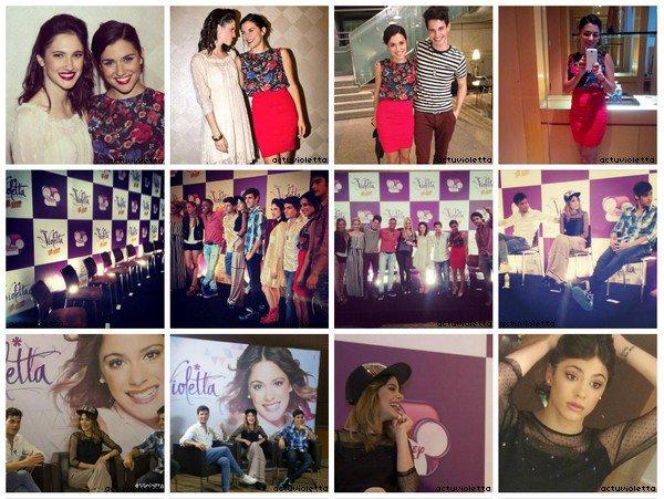 26 octobre : premier show de ViolettaENVivo à San Pablo au Brésil.