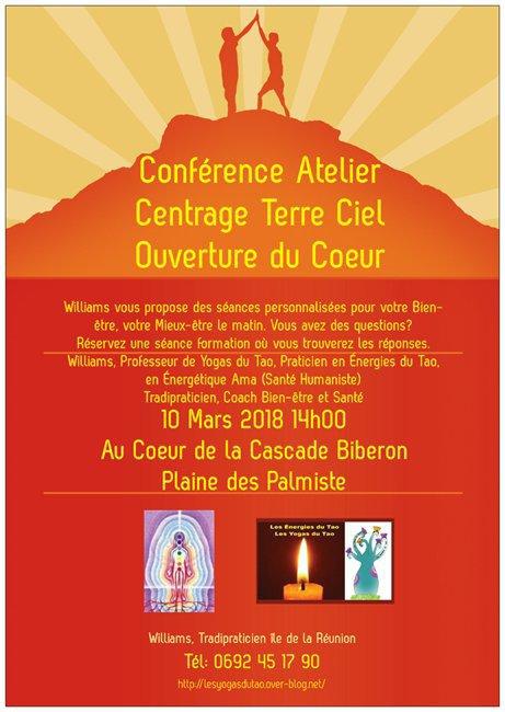 Conférence Atelier Centrage Terre Ciel Ouverture du Coeur