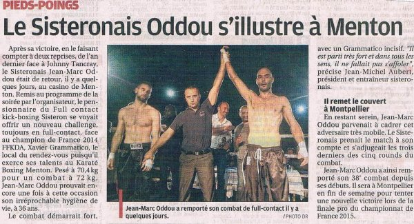 JMO dans la Provence today ...merci ARNAUD VITALIS
