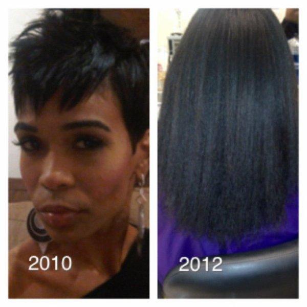 Michelle williams aime ces cheveux long naturel