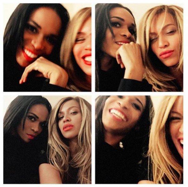 Michelle Williams et sa copine Beyoncé