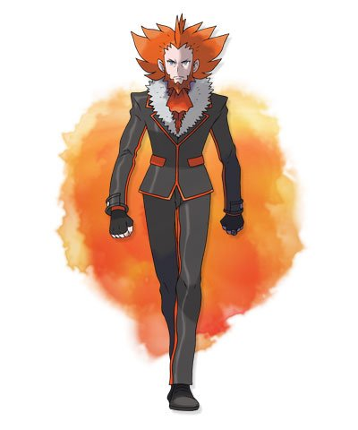 Le Leader de la Team Flare et Mr X