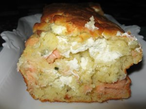 Cake au saumon et chévre