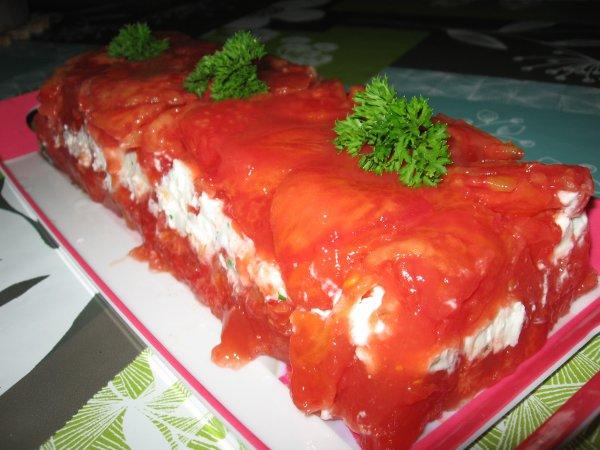 Terrine de tomates au chèvre frais