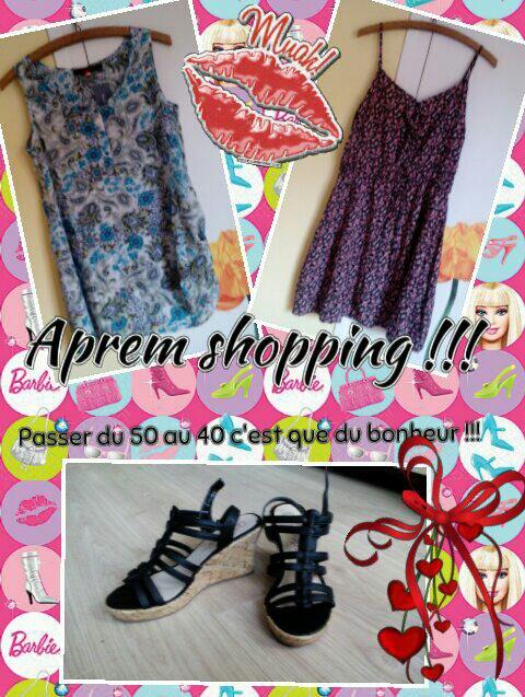 Aprem shopping avec mes filles !!!