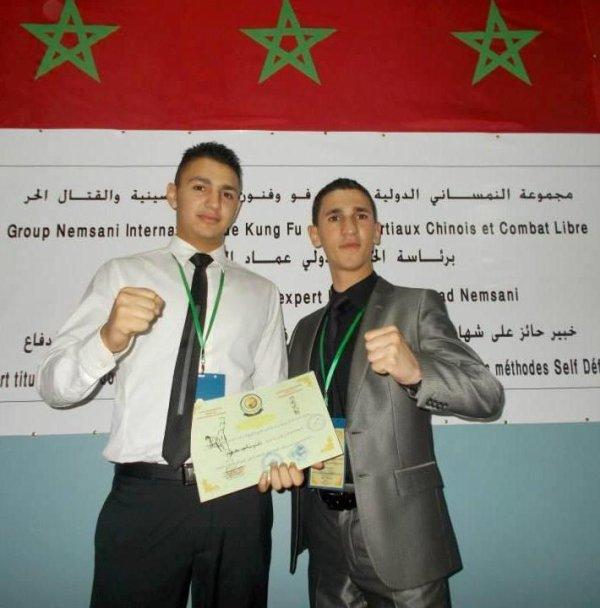 Sifu Imad Nemsani & Mr Mohamed Tounli Responsable technique de Groupe Nemsani