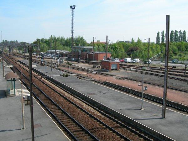 Gare de Béthune -ses voies ferrées- 6