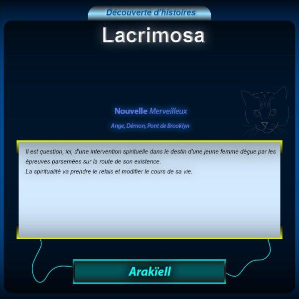 Découverte de la Nouvelle : Lacrimosa