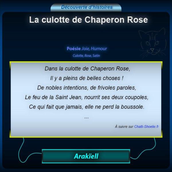 """Découverte de la Poésie : """"La culotte de Chaperon Rose"""""""
