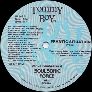 Afrika Bambaataa & Soulsonic Force With Shango - Frantic Situation (Vocal)