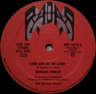Barbara Fowler - Come And Get My Lovin' (Vocal)